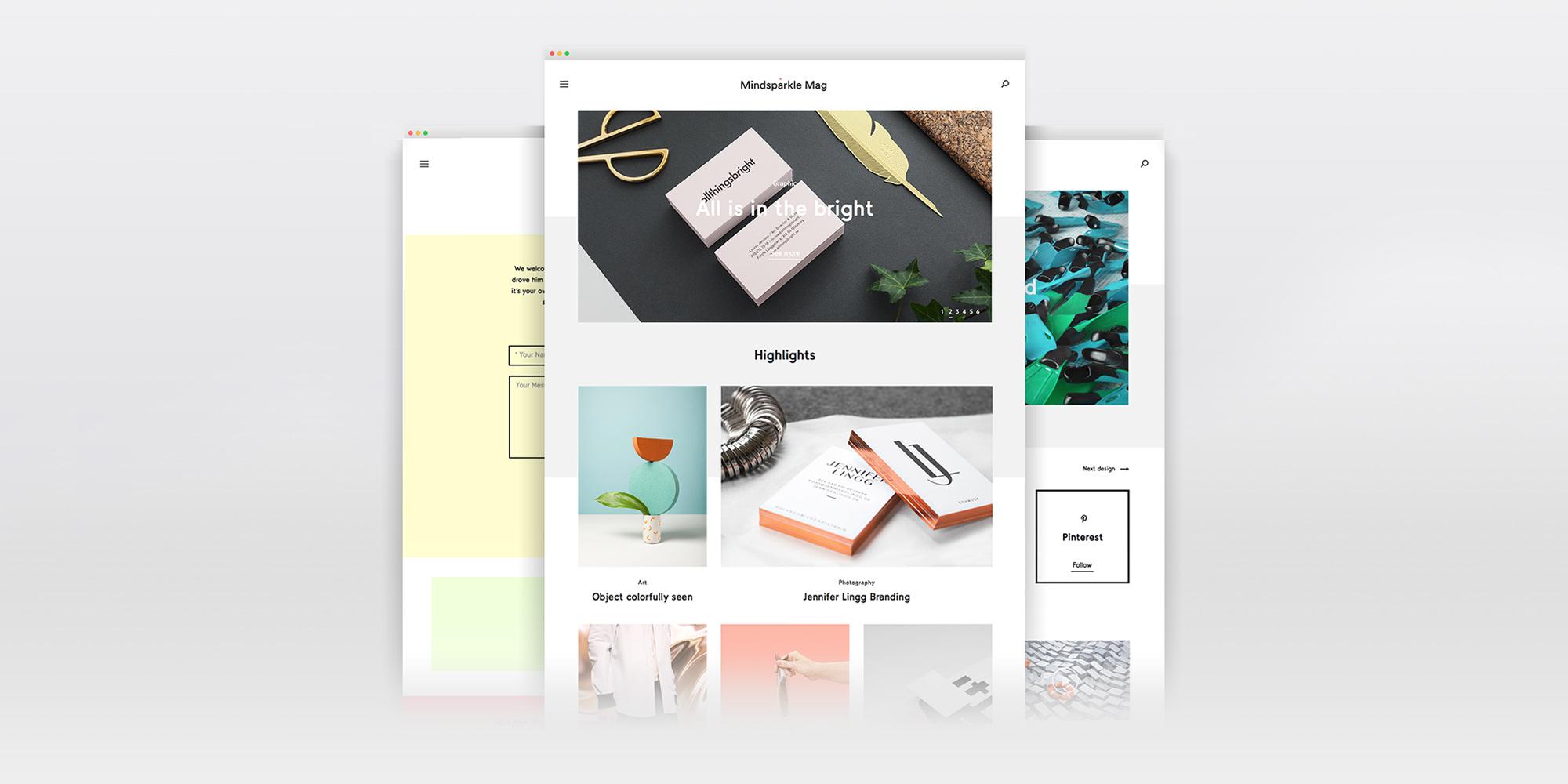 Mindsparkle Mag new redesign design blog magazine inspiration shop
