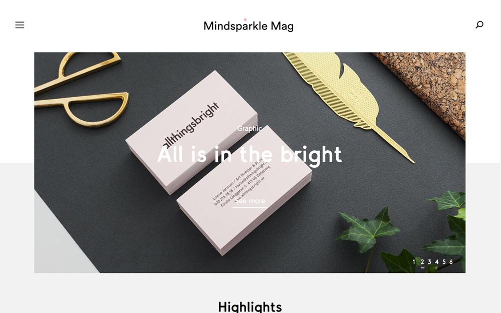 New Mindsparkle Mag redesign desginblog hq inspiration www.mindsparklemag.com