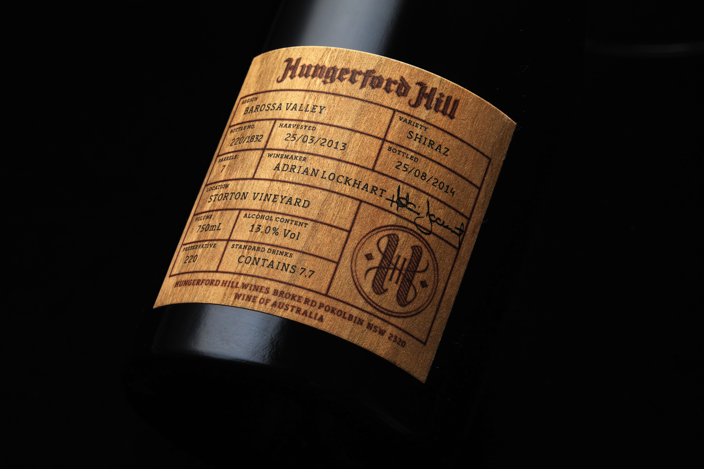 epic wooden wine label