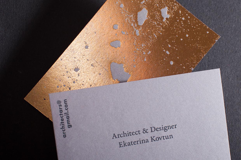golden concrete architect business card mindsparkle mag. Black Bedroom Furniture Sets. Home Design Ideas