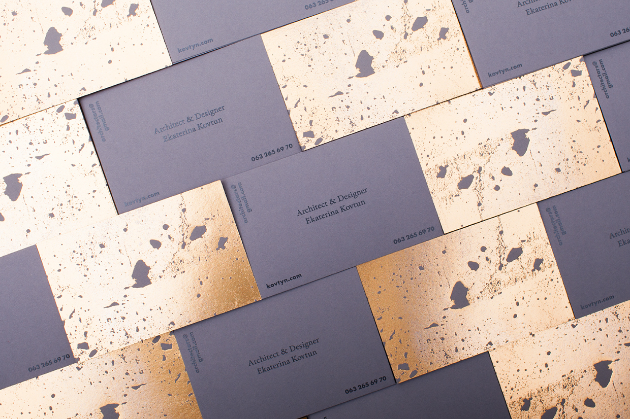Golden concrete architect business card mindsparkle mag reheart Gallery