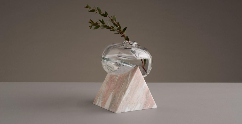 indefinite vases by studio E.O. Erik Olovsson design interior product modern miminal deconstruction vase flower flowers marble stone geometry geometric designer inspire inspiring www.mindsparklemag.com