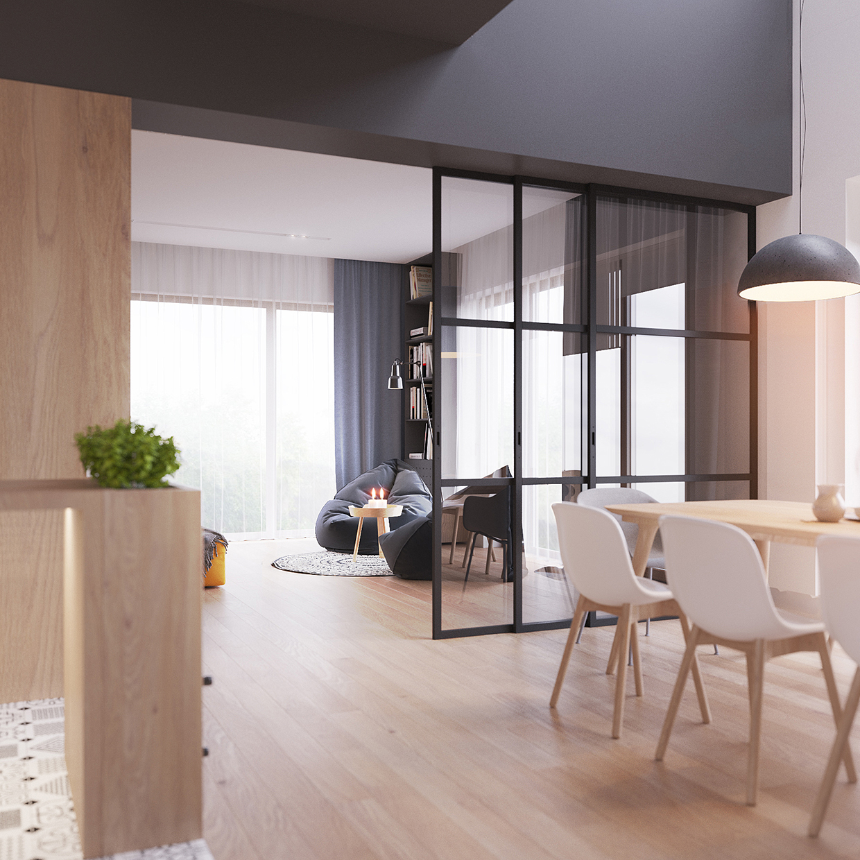 New Home Designs Latest Modern Interior Decoration: Minimal Scandinavian House Kolodishchi