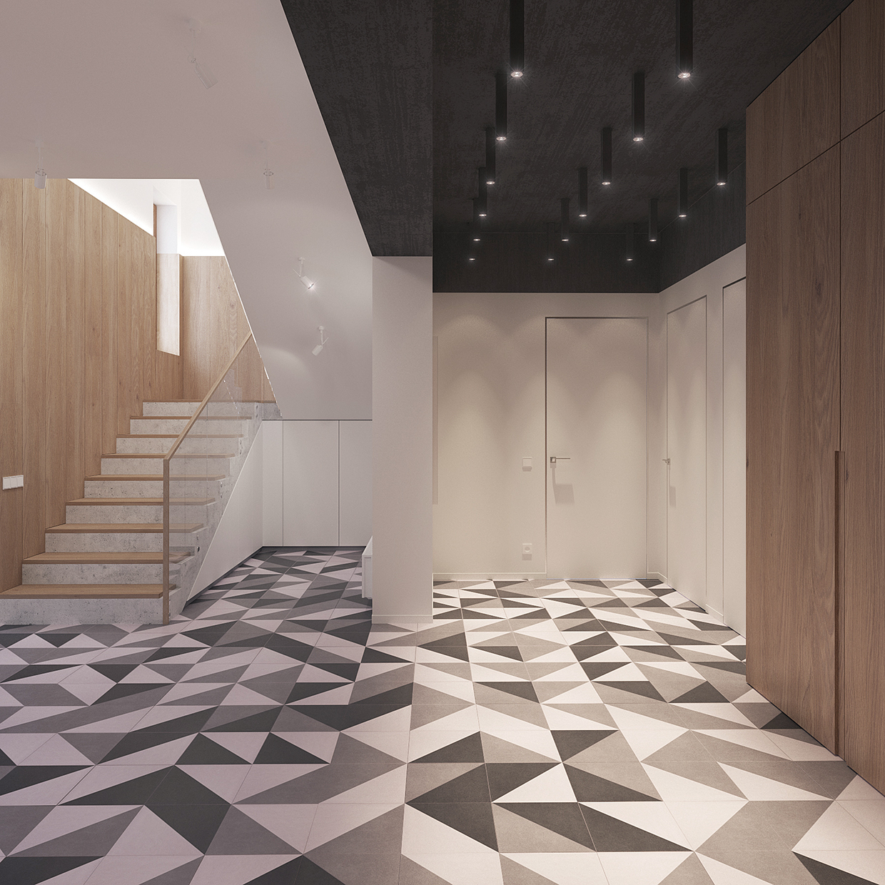 Most Creative Flooring Ideas For Your Modern Home: Minimal Scandinavian House Kolodishchi