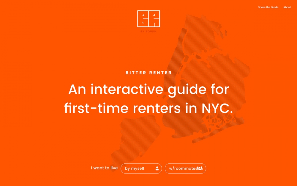 Bitter renter NYC new york city first time rent guide webdesign website minimal beautiful best modern cool mindsparkle mag