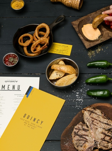 quincy branding corporate design restaurant monterrey mexico