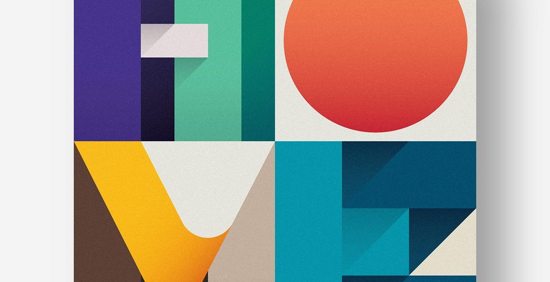 beautiful colorful typography letters font mindsparkle mag designblog inspiration