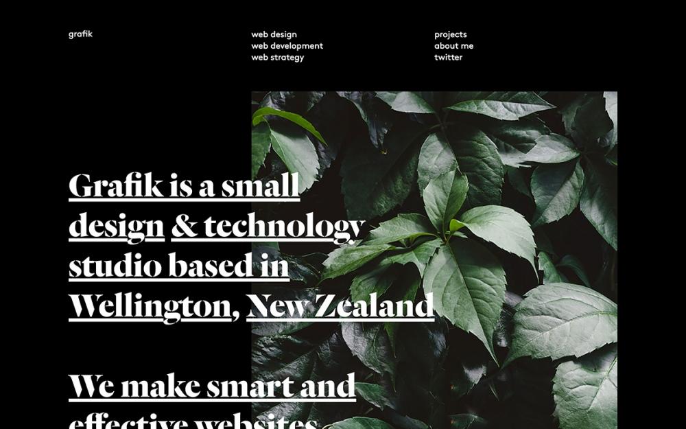 Grafik webdesign sotd site of the day award by Nick de Jardine