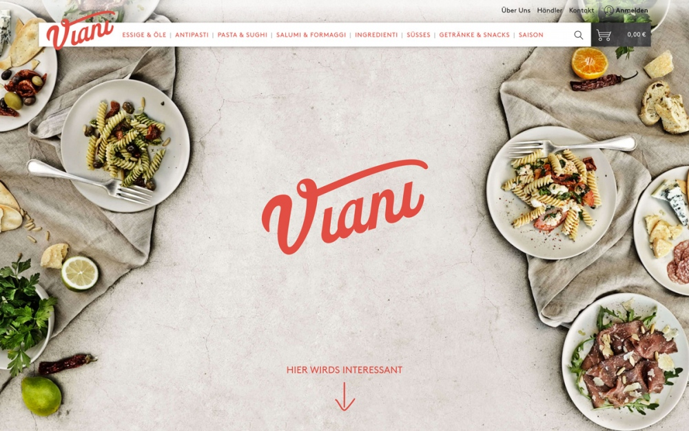 Viani gourmet food germany website site of the day wedesign mindsparkle mag sotd