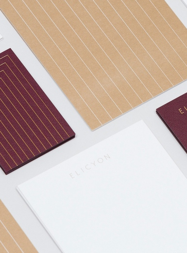 Elicyon branding deluxe lusury beaty corporate design stationery design two times elliott london UK mindsparkle mag