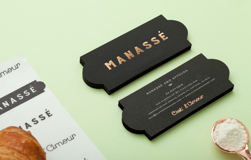 The new luxurious french patisserie & boulangerie named Manassé was designed by minimal branding & corporate identity specialists from Mexico called Menta.