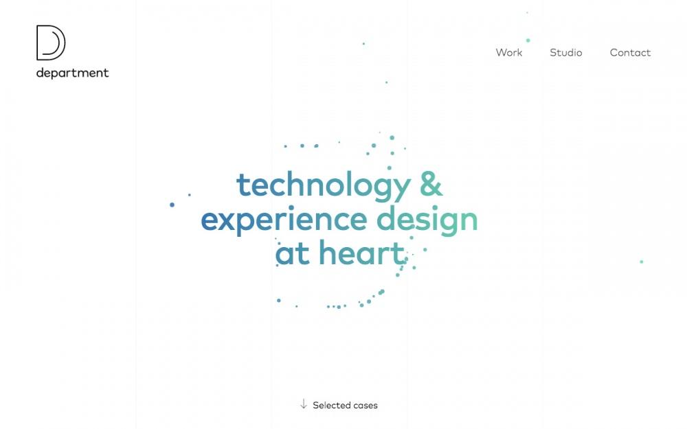 Department Sweden site of the day beautiful design studio award minimal new modern minimal portfolio mindsparkle mag