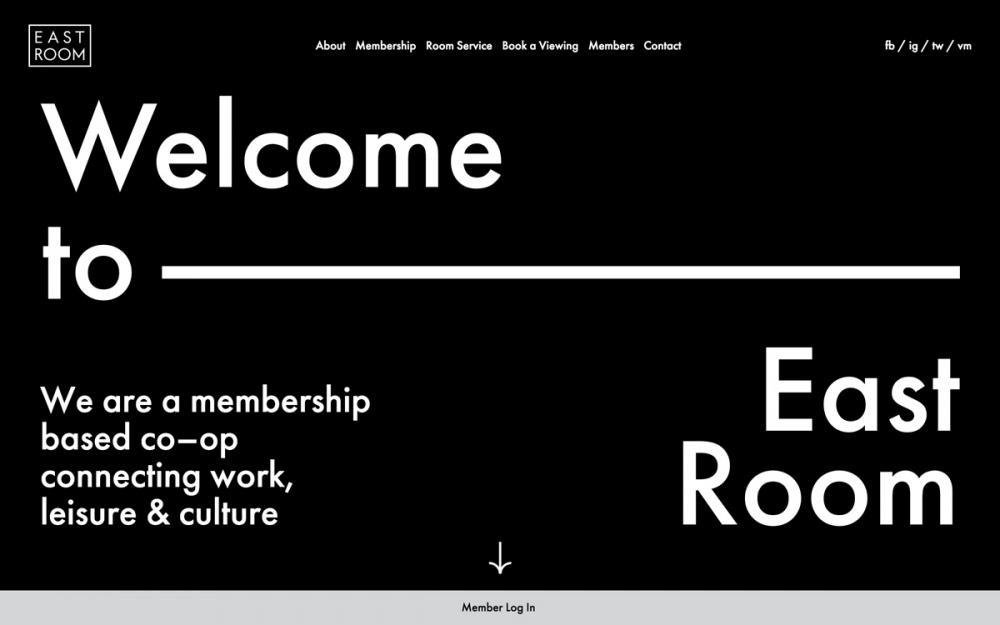 Eastroom east room Clea Forkert webdesign web modern beauty award sotd site of the day mindsparkle mag