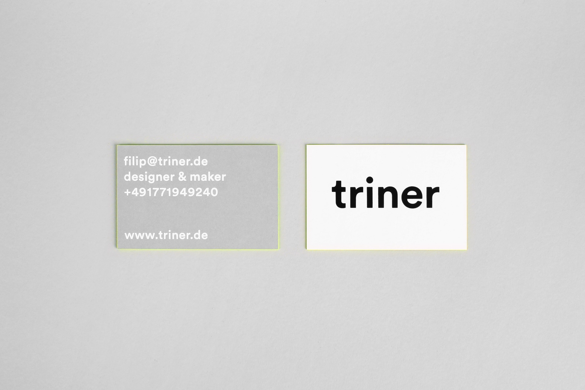 Filip Triner business cards Mindsparkle Mag