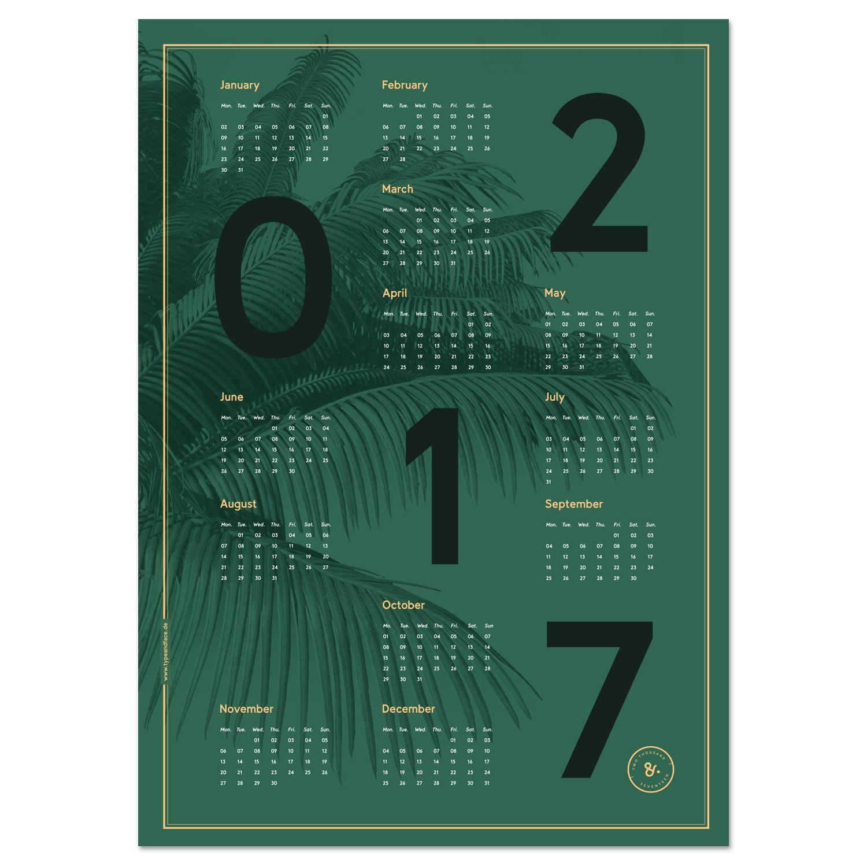 Editorial Calendar Design : New palm calendar mindsparkle mag