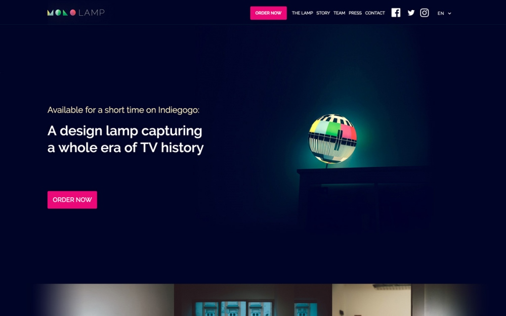 A design lamp capturing a whole era of TV history