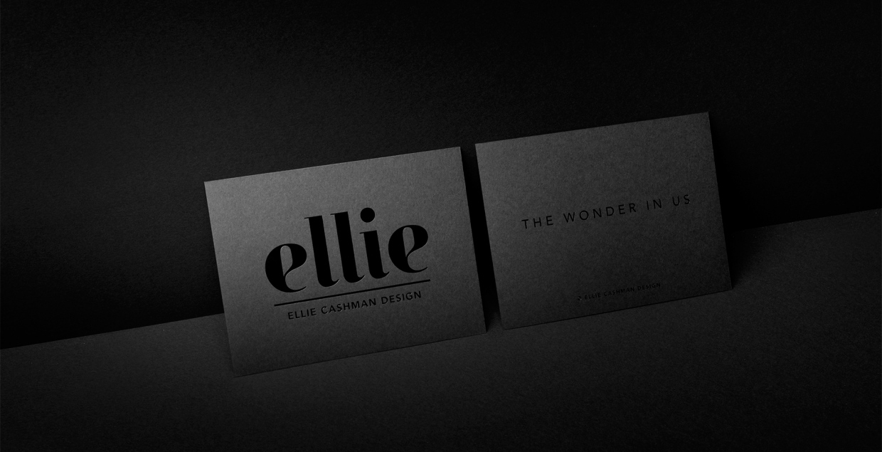 Ellie Cashman Design (WIP) corporate branding design identity black deluxe fashion luxury by Studio Stephan Lerou mindsparkle mag