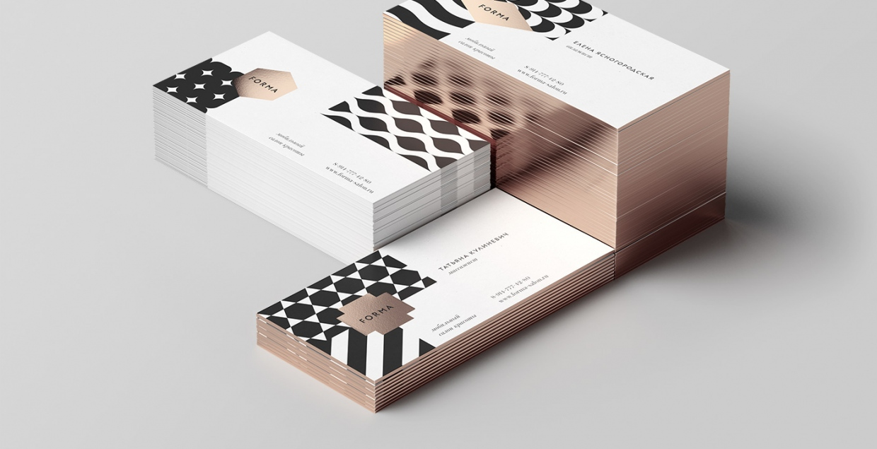Forma beauty shop corporate branding design copper packaging deluxe by pilgrims design studio russia mindsparkle mag
