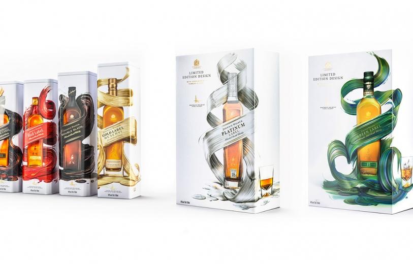 Johnnie Walker Artist Edition Branding Illustration Packaging Art Design by Pawel Nolbert NYC Mindsparkle Mag