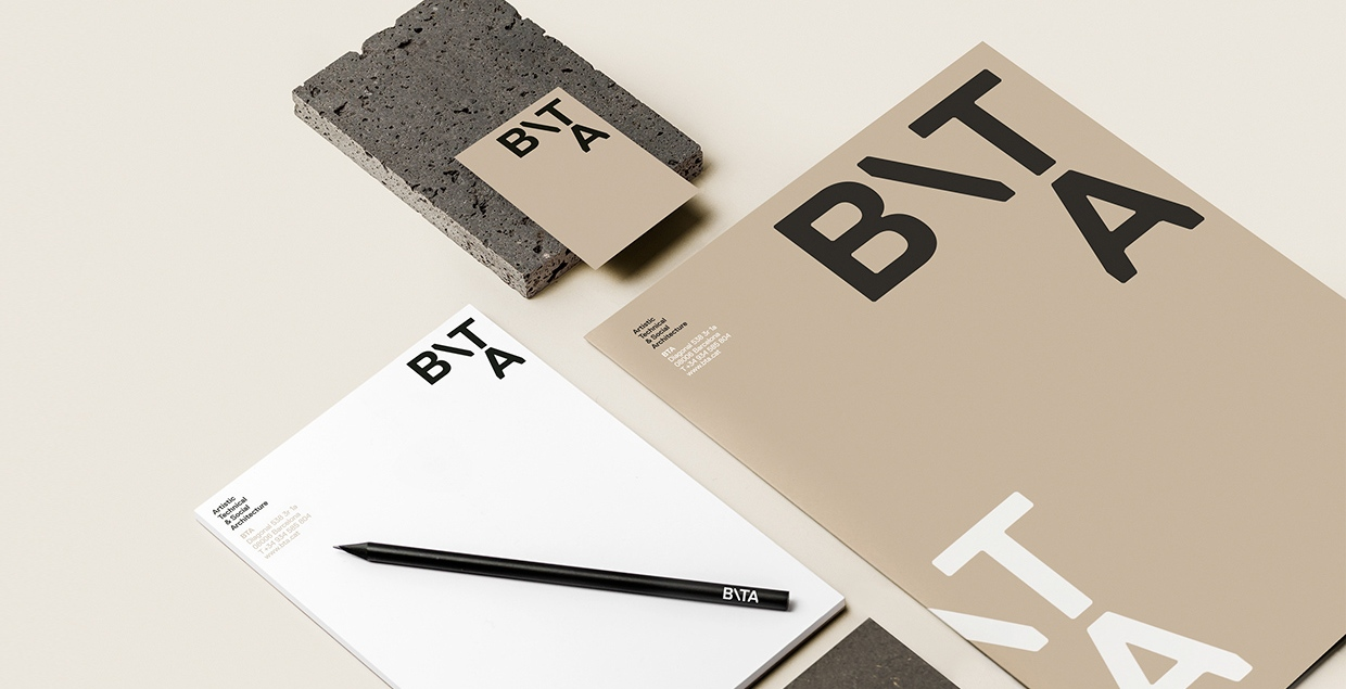 BTA Architecture Studio Graphicdesign Cprorate Design Branding Visual Identity Businesscard Collateral Staionary cool new by Grisela Martí Mindsparkle Mag