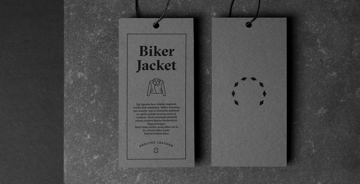 Biker Jacket Branding Visual Identity design corporate designer cool dark by L2 studio Hungary Budapest Mindsparkle Mag