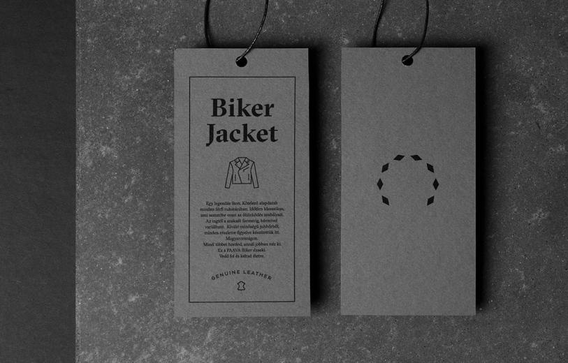 Biker Jacket Branding Visual Identity design corporate designer cool dark by L2 studio Hungary Budapest Mindsparkle Mag