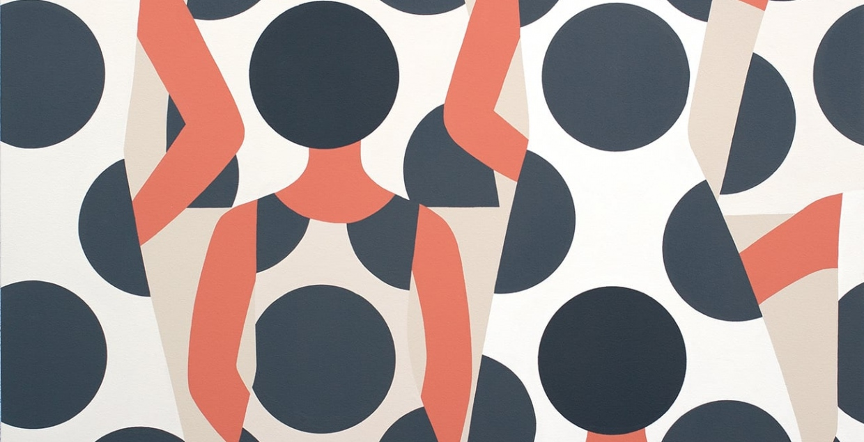 Beautiful minimal Illustrations graphic design designer artist painter painting beautiful minimalism by geoff mcfetridge Mindsparkle Mag