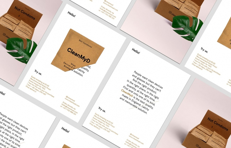 CleanMyD Identity art direction graphic design webdesign branding packaging beautiful by Sofi Azais London designer Mindsparkle Mag