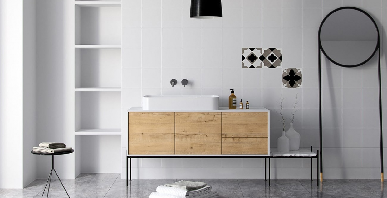 Modern Oak wood Bathroom furniture design interior design architecture modern new cool beautiful by Krzysztof Bogdanowicz Poland Mindsparkle Mag