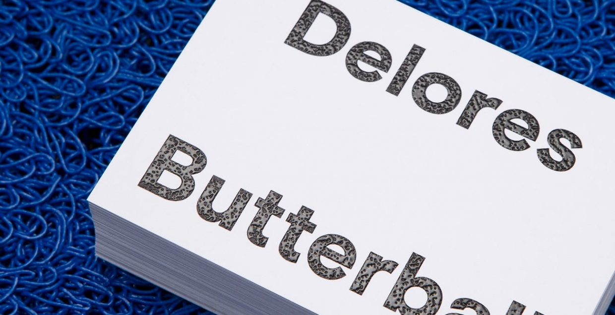 Delores Butterball Identity visual branding brand printdesign design designer graphic design by Mildred and Duck Mindsparkle Mag