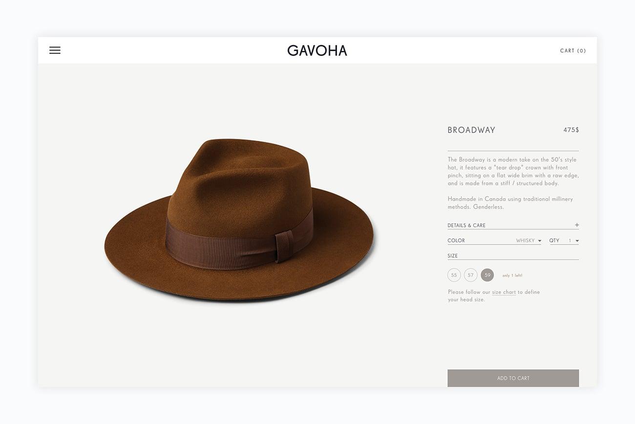 f920caf7214 Gavoha high end hats identity mindsparkle mag jpg 1300x867 High end hat