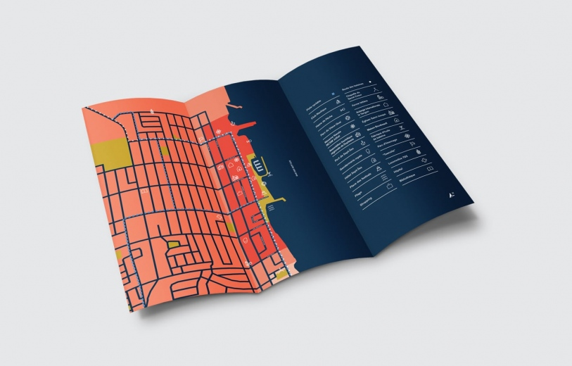 Le Vieux Sept Iles Identity wayfinding system visual system town brand graphic design nice by Frederique Gravier Mindsparkle Mag