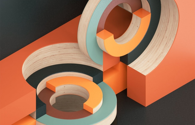 circular intersections art direction graphic design digital art design by Jean-Michel Verbeeck Mindsparkle Mag