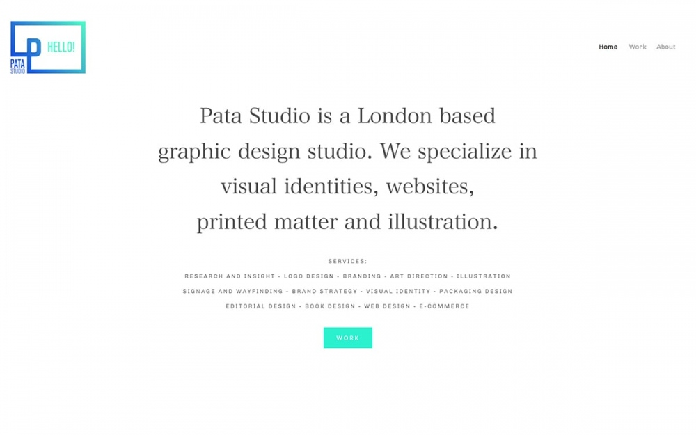 patastudio uk work graphic design London website web webdesign online sotd site of the day Mindsparkle Mag