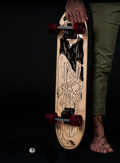 SPS x Fuzzco Skateboard brand design illustration nice lifestyle fashion cool graphic design Mindsparkle Mag