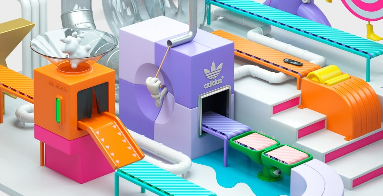 Adidas Kids 360 animation video ad advert illustration collaboration Chris Labrooy and Hauth Mindsparkle Mag