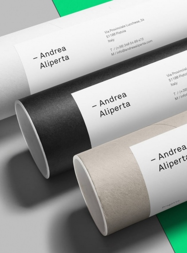 Andrea Aliperta Brand Identity branding typography graphic design art direction by Federico