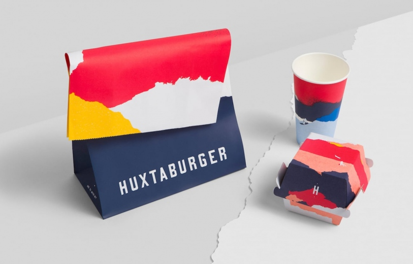 Huxtaburger Branding graphic design packaging brand identity design business cards by Pop and Pac Melbourne Australia Mindsparkle Mag