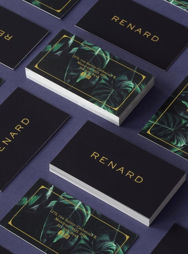 Renard Brand identity branding graphic design business cards collateral stationary art direction photography logodesign by Véronique Lafortune and Gabrielle Matte Montreal Canada Mindsparkle Mag