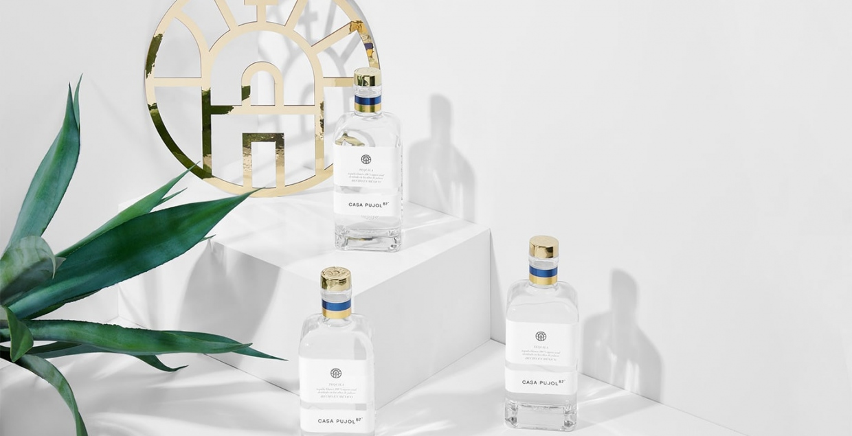 Tequila Casa Pujol 87 Identity branding graphic design brand identity packaging symbol design art direction by Anagrama Mexico Mindsparkle Mag
