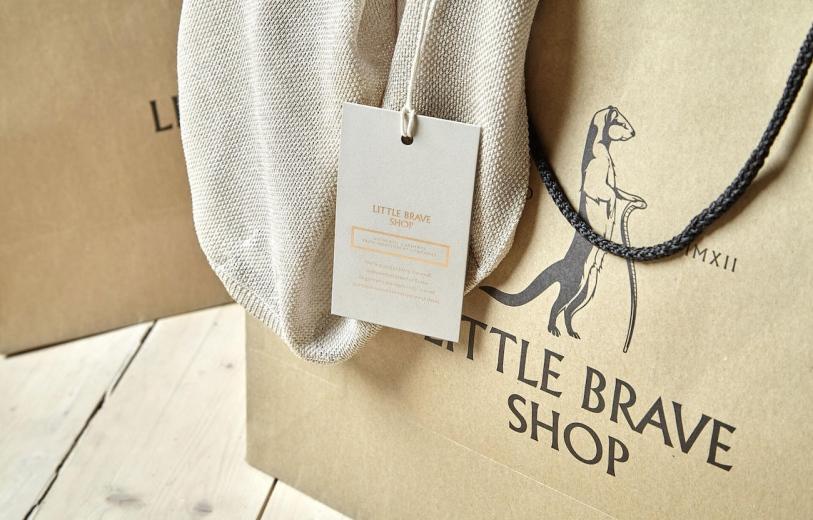 Little brave shop identity graphic design
