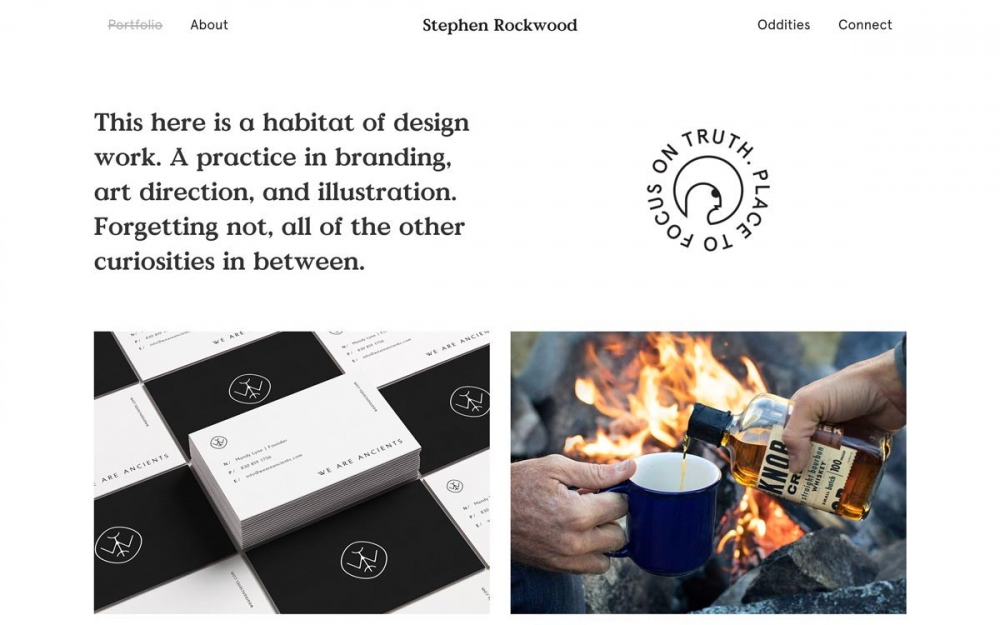 Stephen Rockwood design site of the day award mindsparkle