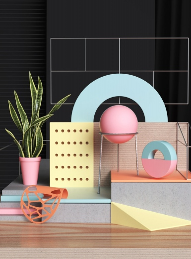 3d forms geometric shapes to print cut color and fold curt letter