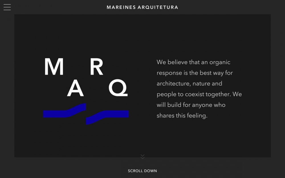 Mareines Architecture site of the day award mindsparkle mag
