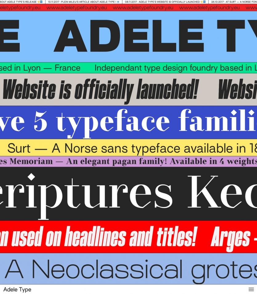 Adele Type Foundry - Mindsparkle Mag