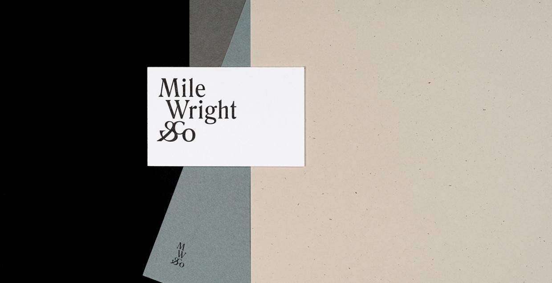 Mile Wright & Co. Branding design mindsparkle mag