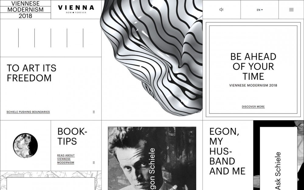 Viennese Modernism site of the day award mindsparkle mag
