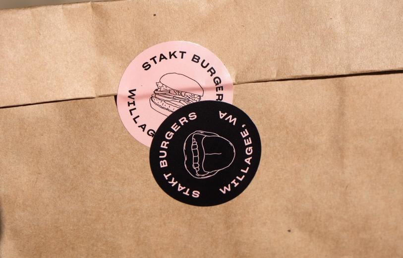 STAKT Burgers Identity design mindsparkle mag