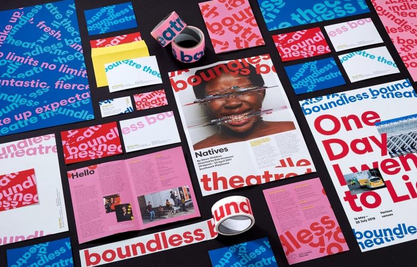 boundless theatre spy studio branding brand identity visual performance print stationery mindsparkle mag