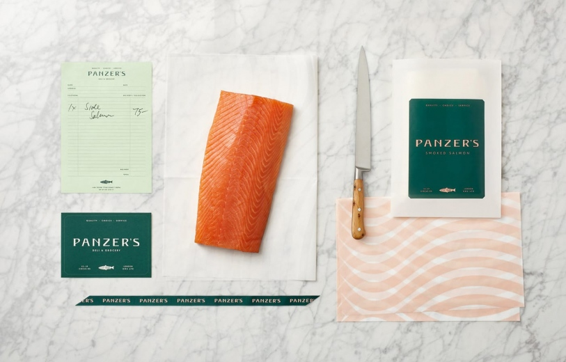 panzers deli grocery brand identity packaging visual graphic design stationery mindsparkle mag